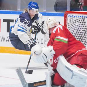 Patrik Laine, hockey-VM 2016, Finland-Vitryssland.