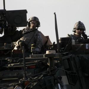 Amerikanska soldater vid en Natoövning i Lettland.