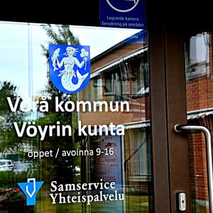 Huvudingången till Vörå kommuningård