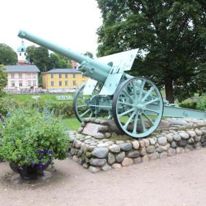 Kanonen vid gamla bron i Borgå.