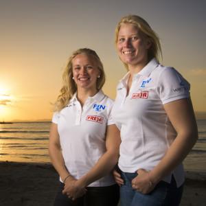 Noora Ruskola och Camilla Cedercreutz har satsat allt på segling.