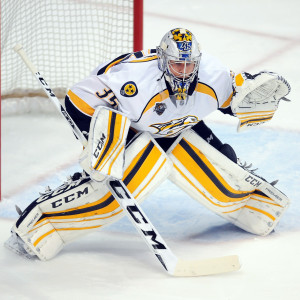 Pekka Rinne i Nashvilles mål.