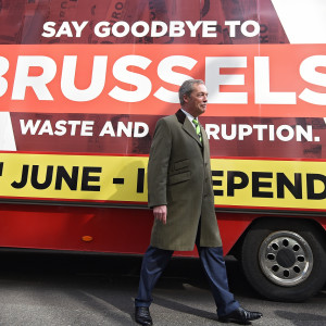 EU-motståndaren Nigel Farage.