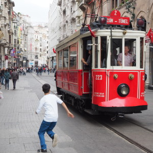 Spårvagn i Istanbul.