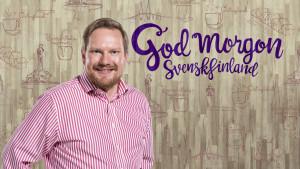 Ted Urho poserar för God morgon Svenskfinland.