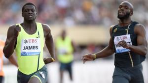 Kirani James och LaShawn Merritt i hård kamp på 400 meter.