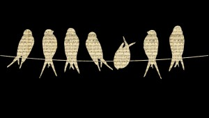 Fåglar på en tråd, körsång