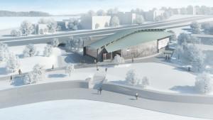 Björkholmens metrostation.