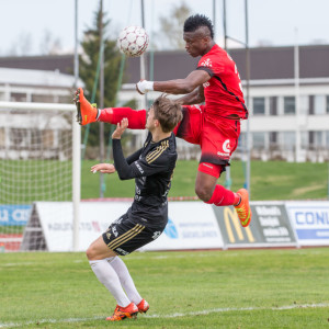 Roope Riski och Faith Obilor, SJK-Inter.