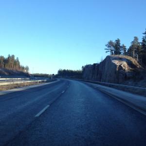 Motorvägen mellan Åbo och Helsingfors.