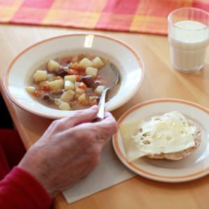 Lunch i Brandbackens servicecenter.