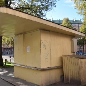 Björnparkens kiosk i oktober 2015