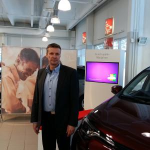 Guy Sjöberg, vd för Lohjan Autokeskus