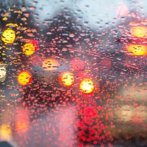 Vindruta i regn