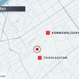 Karta över Kommunalsjukhusvägen i Åbo