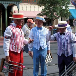 The Dapper Dans barbershop quartet, at Walt Disney World's Main Street, USA