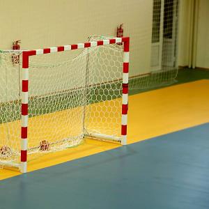 Ett handbollsmål.