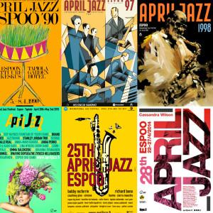 April Jazz -tapahtuman julisteita