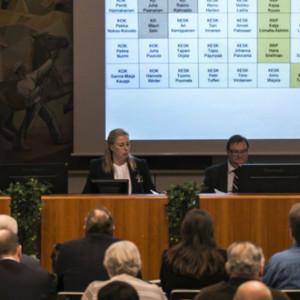 Här röstade Karleby stadsfullmäktige för två veckor sedan. På måndag görs valet om.