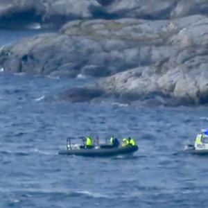 Räddningsinsats efter helikopterkrasch nära Bergen.