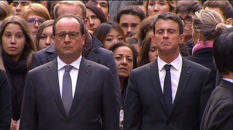 Pariisissa vietettiin hiljainen hetki terrori iskujen uhrien muistolle  Uuti
