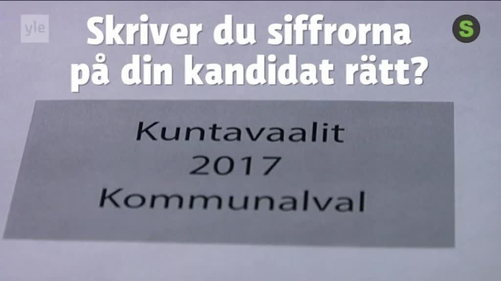 Kandidat for junilistan forkryssade valsedlar