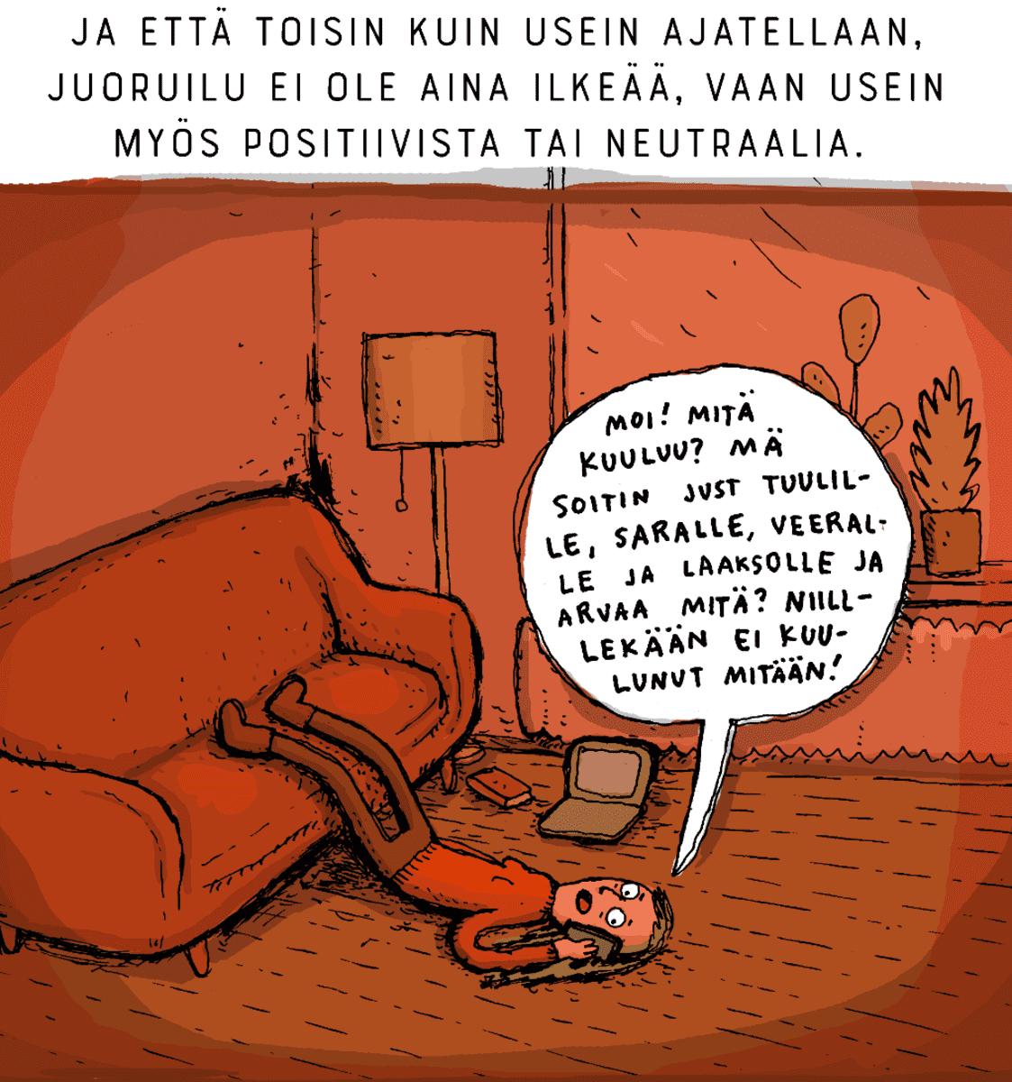 Aiju Salmisen sarjakuvakolumni.