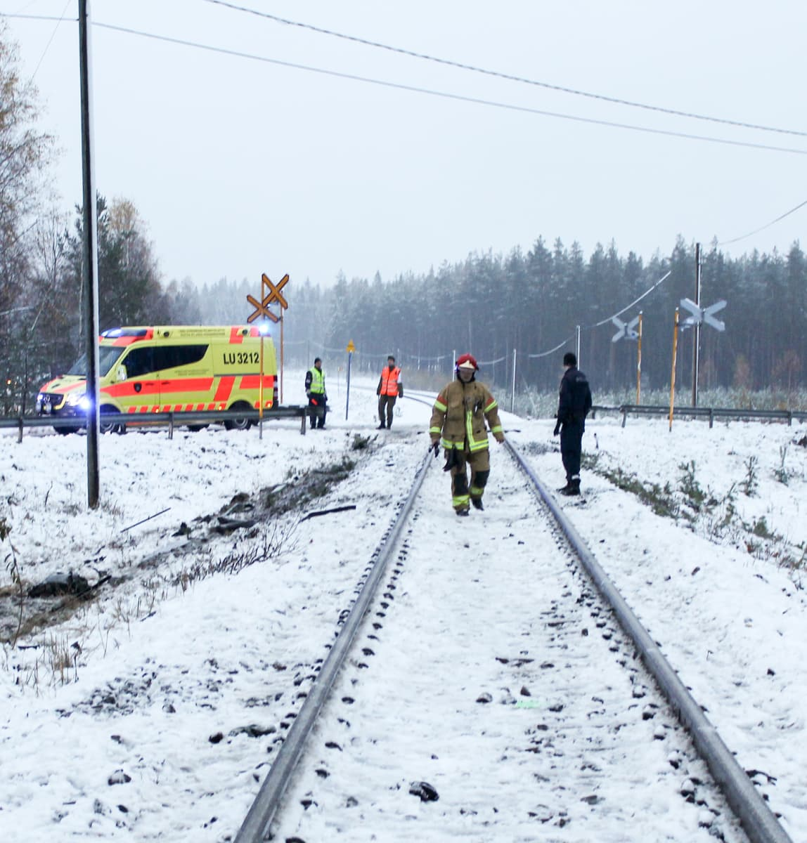 Raaseporin tasoristeyksessä tapahtui tuhoisa onnettomuus 26.10.2017.