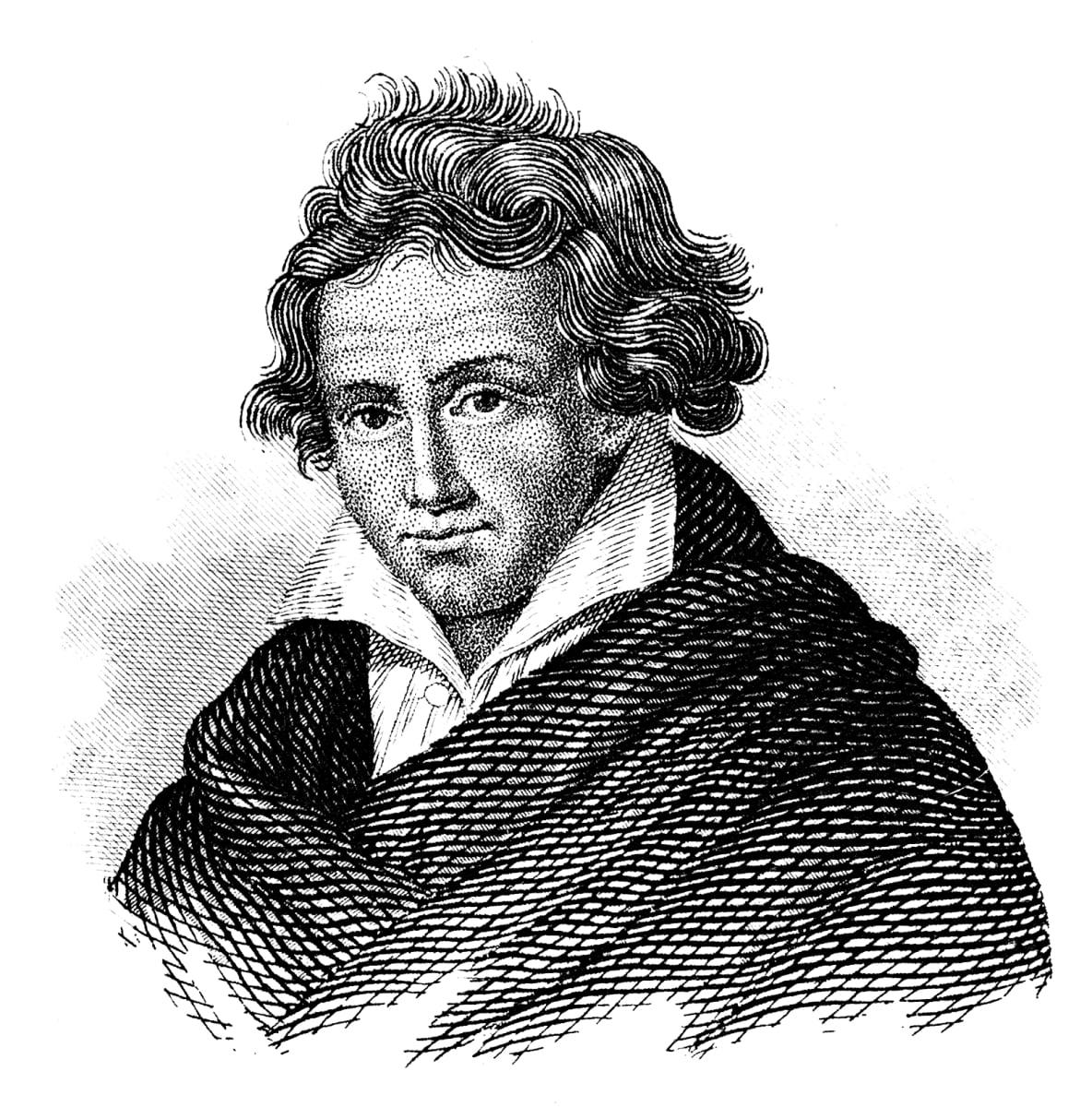 Piirroskuva Ludwig van Beethovenista.