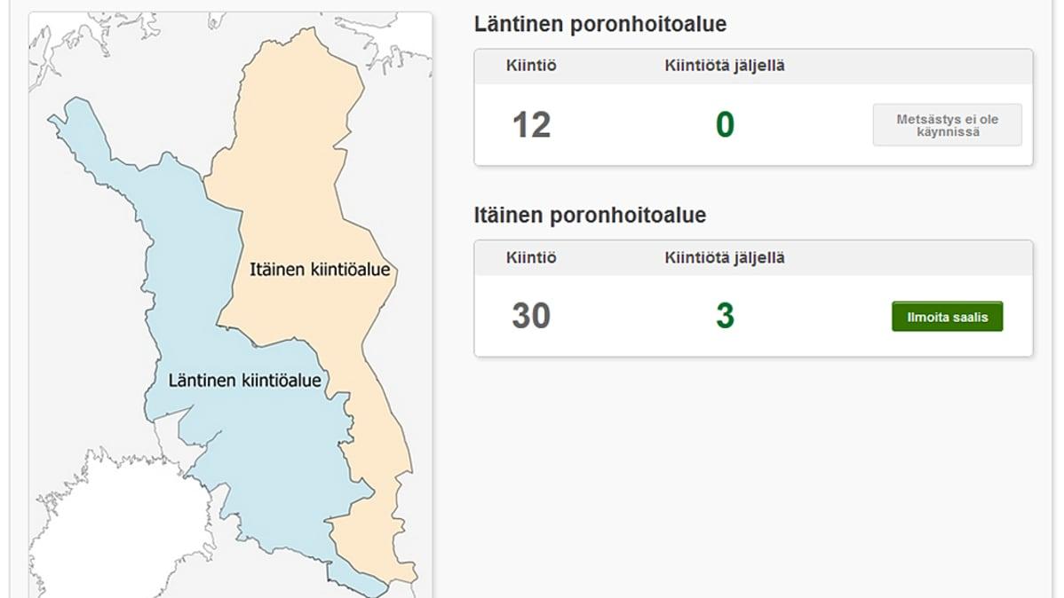 Karhut Suomessa Kartta