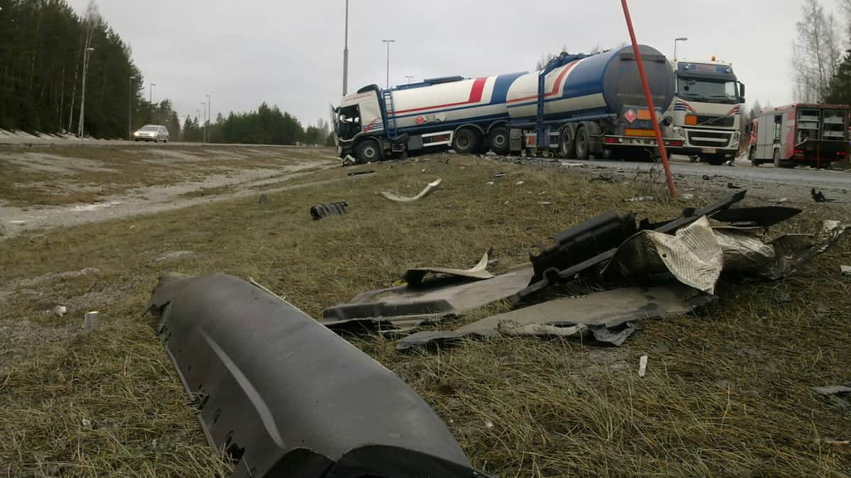 Onnettomuus Lahden Moottoritiellä