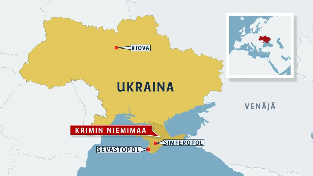 Ukraina Kartta