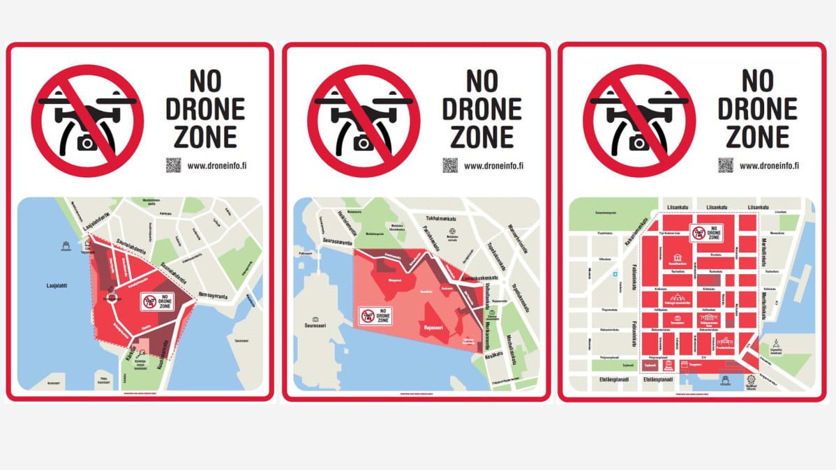 Drone Kieltoalueet