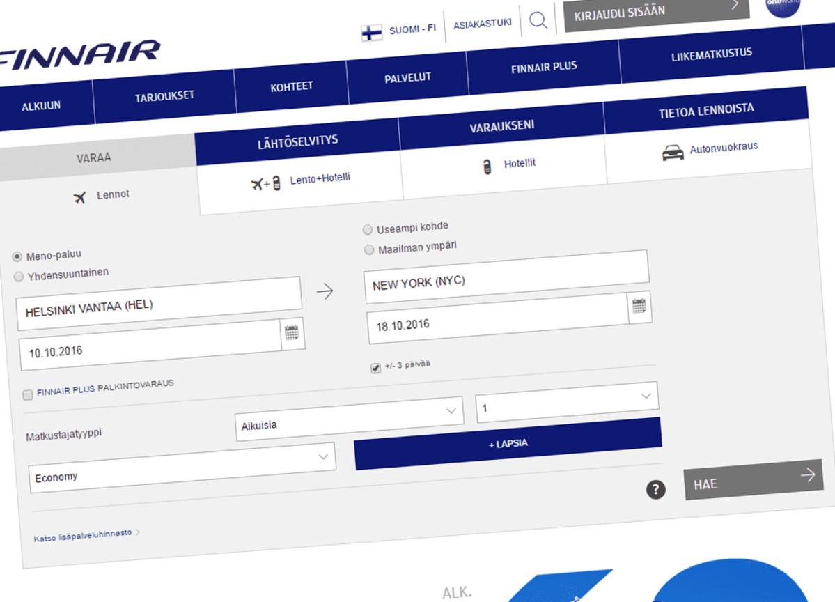 Finnair Lentolippu