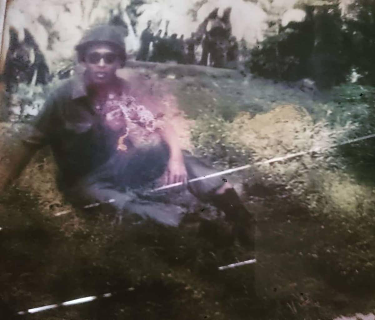 Vietnamin sodan aikaan otettu kuva Kini Len ukista