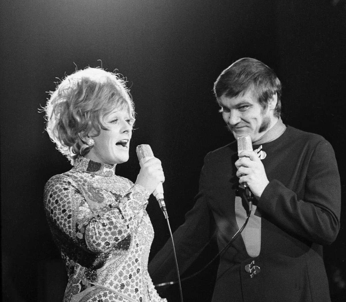 Marjatta Leppänen ja Jukka Virtanen show Adlonissa vuonna 1969.