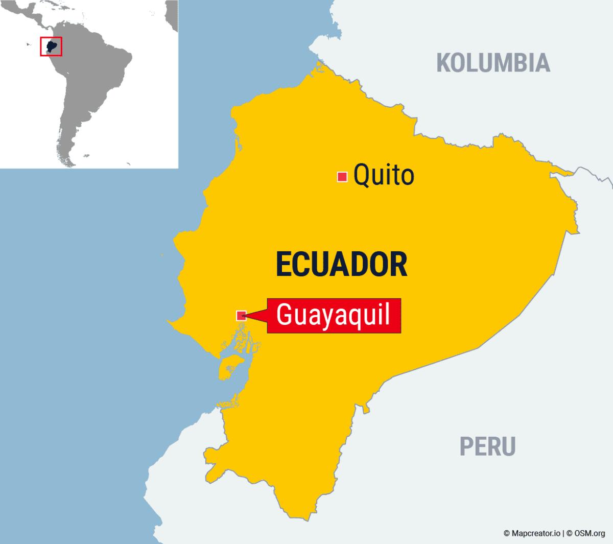 Ecuadorin kartta.
