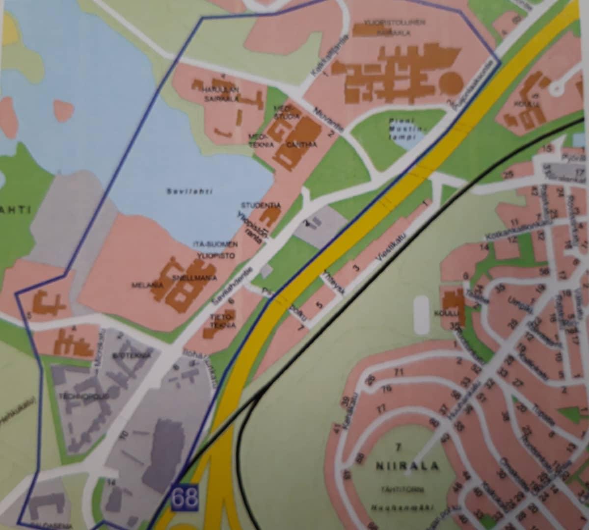 Mahdollinen häiriöalue on merkitty liitteessä olevaan karttaan.