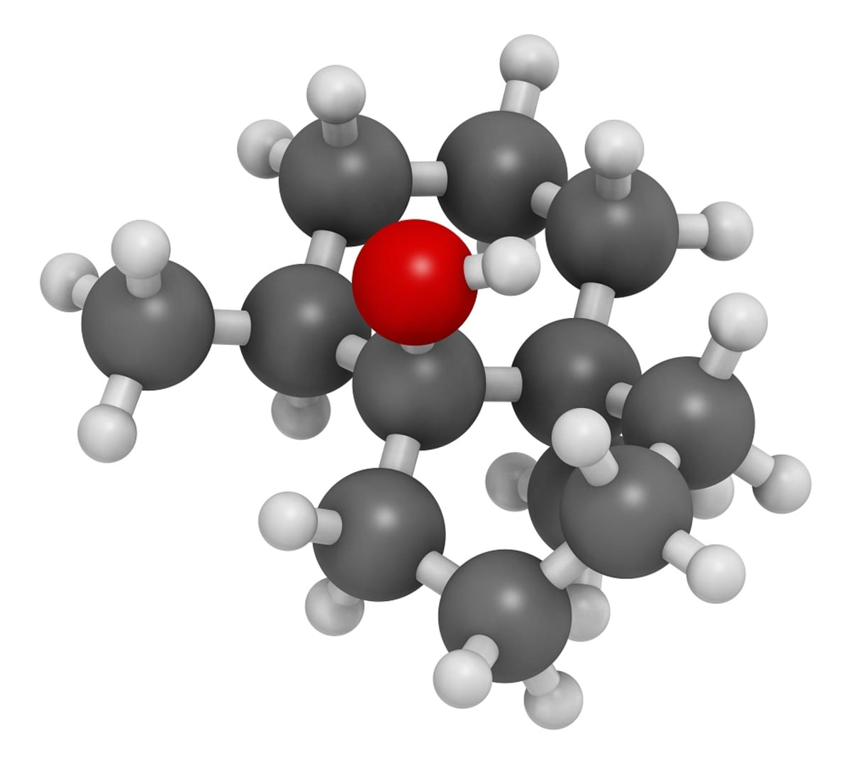 Molekyylimalli geosmiinista.