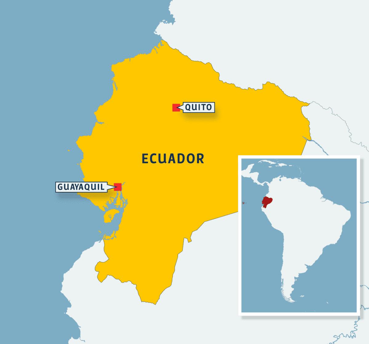 Ecuadorin kartta