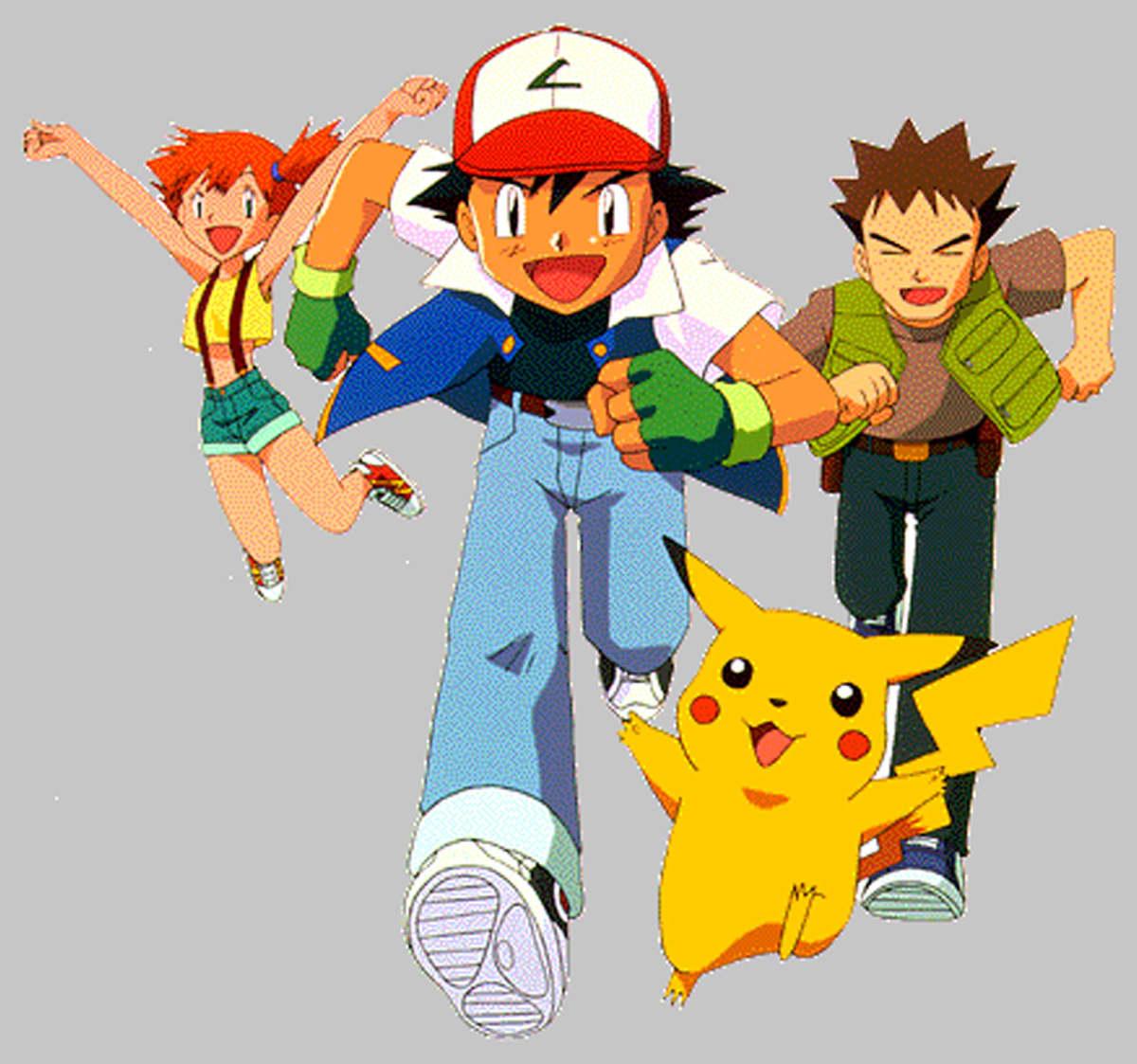 Pokémon-hahmoja.