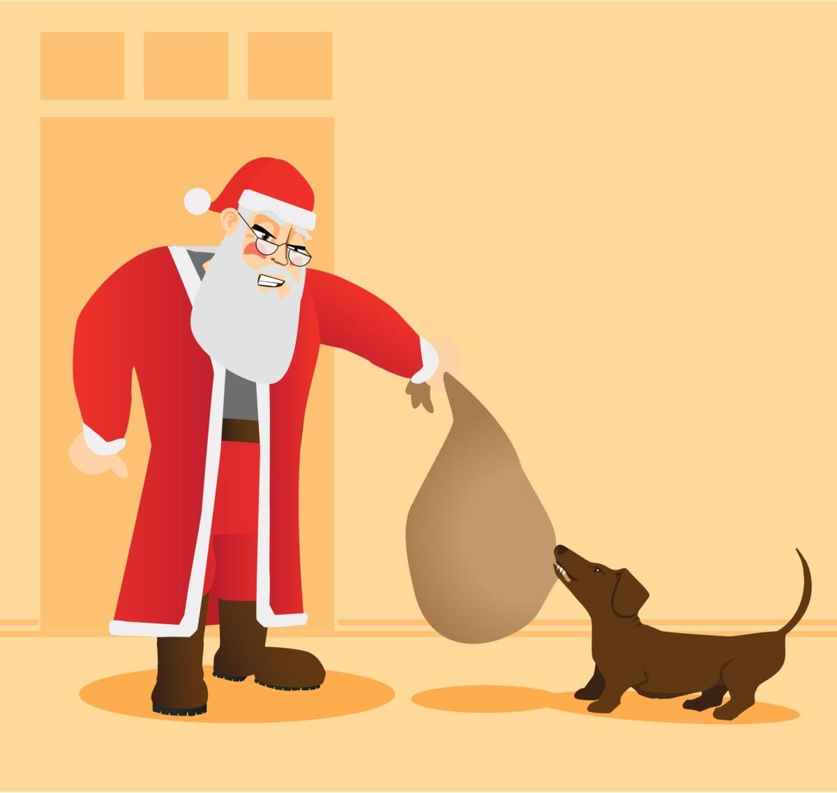 Joulupukki ja koira