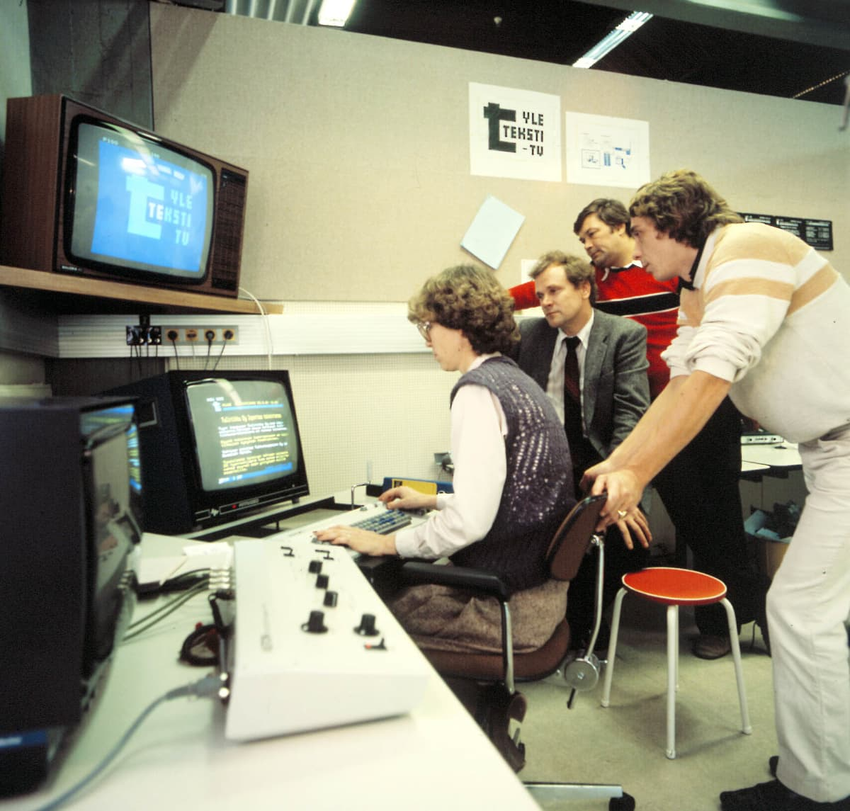 Teksti-tv:n toimitus vuonna 1981