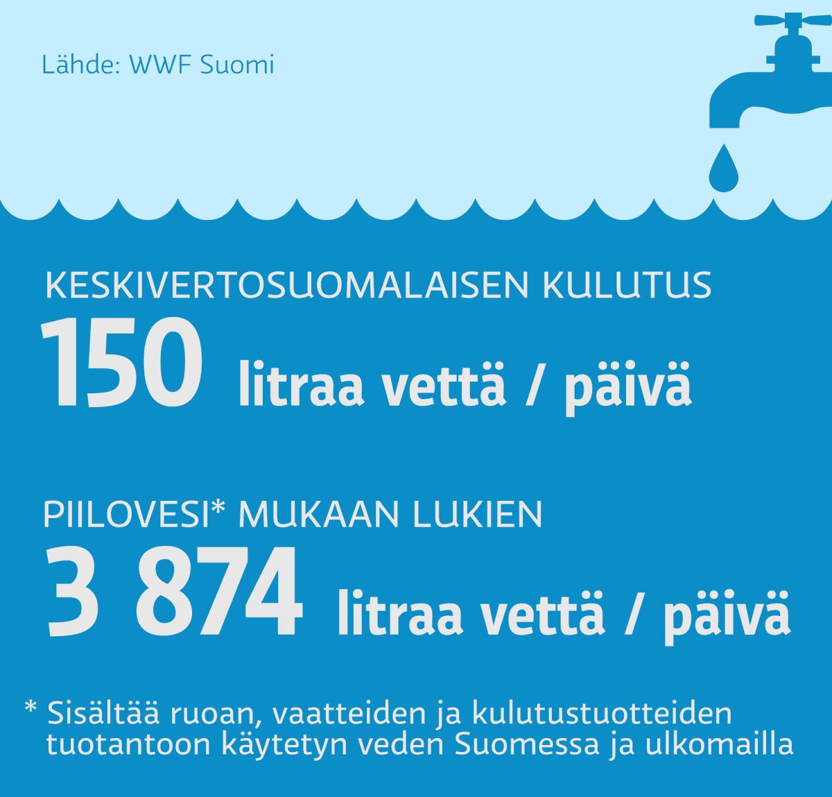 Veden kulutus