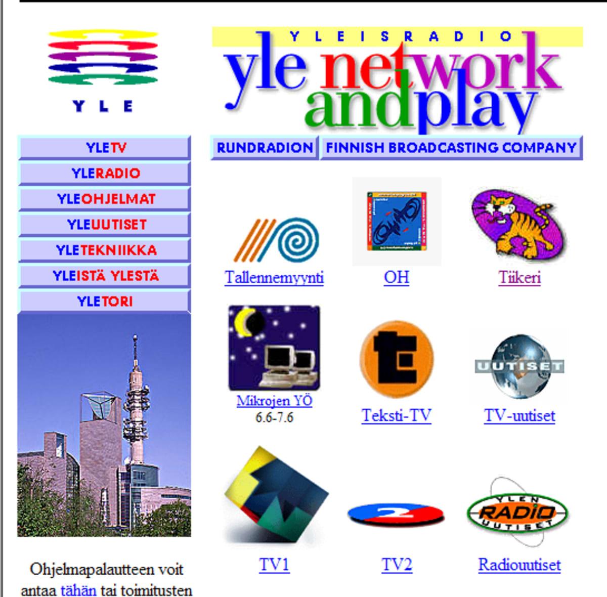 YLE nettisivu