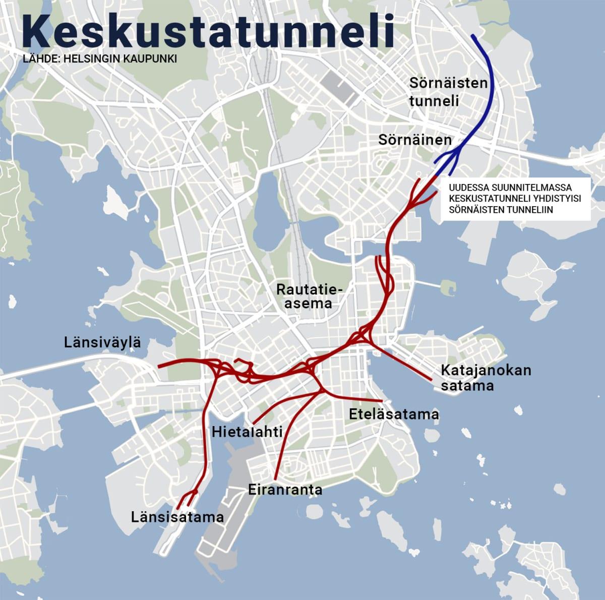 Helsingin keskustatunnelisuunnitelma