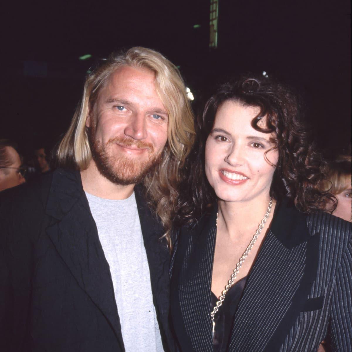 Renny Harlin ja Geena Davis kuvattuna vuonna 1995.