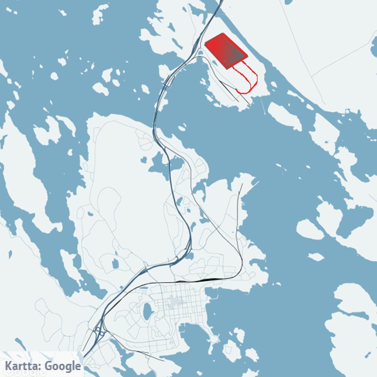 Finnpulp Kuopio kartta