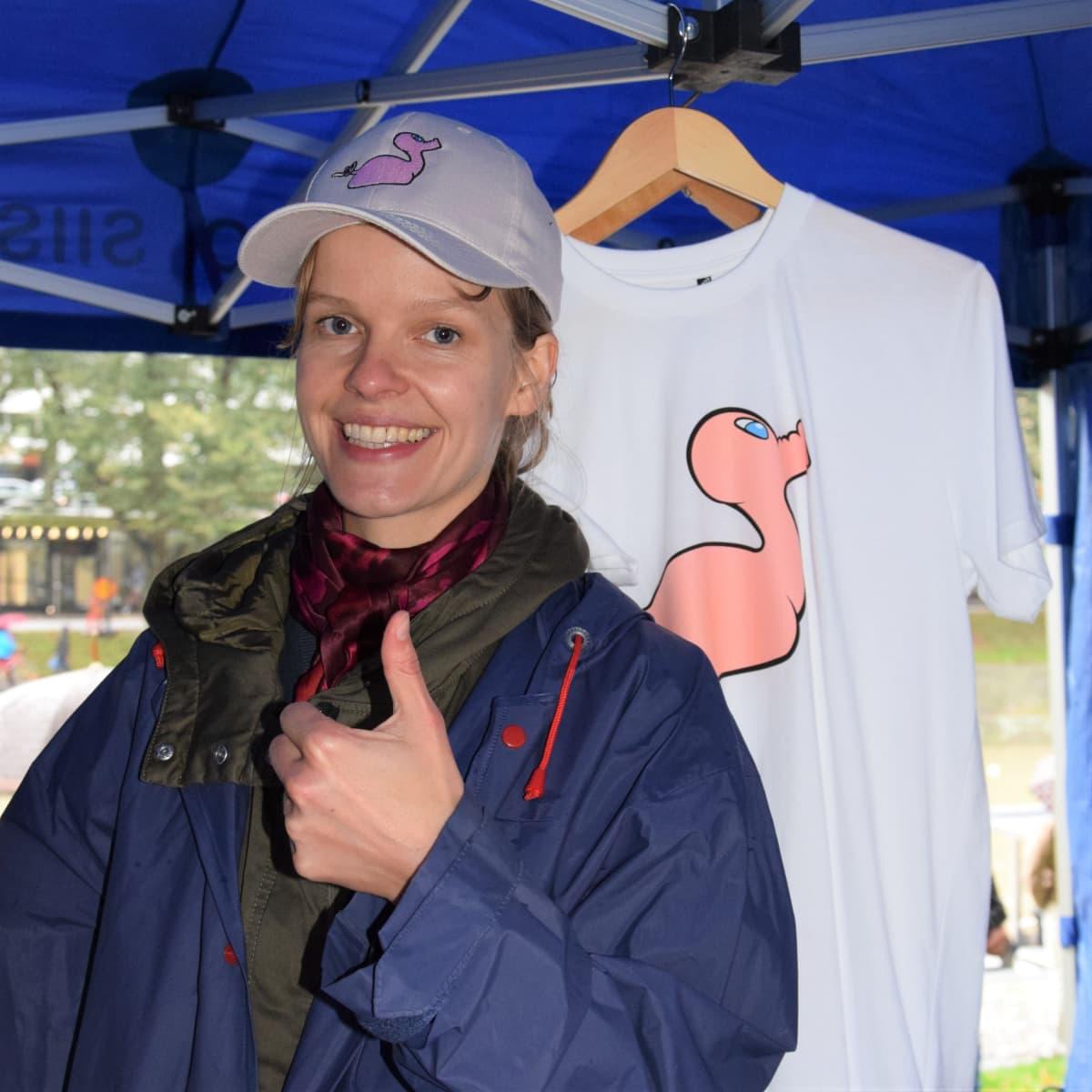 Yrittäjä Kristiina Winter ideoi luontoystävällisiä Posankka-tuotteita.