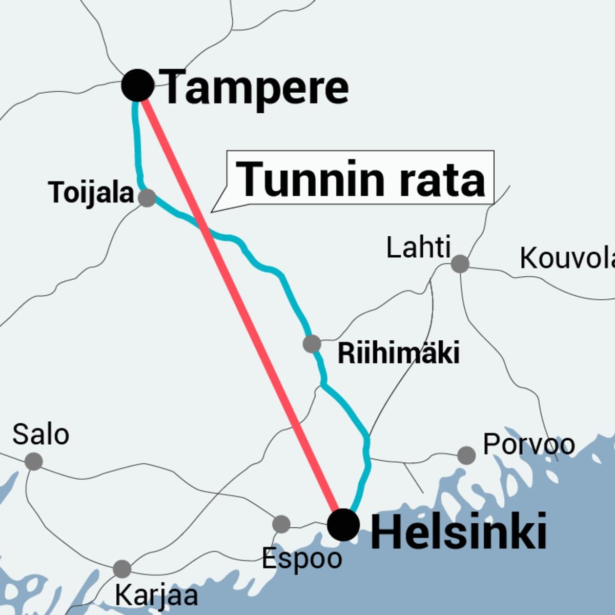 Tampere-Helsinki tunnin juna